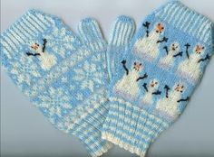 Kathleen Taylor's Dakota Dreams: Freebie Friday- Part 1- Stranded Snow Mittens Child Size.