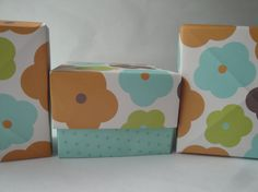 Gift box  set of 3 paper origami boxes by 2SweetBeans on Etsy, $6.50