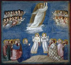 Scenes from the Life of Jesus Christ: Ascension // 1304-1306 // Giotto di Bondone // Fresco / Cappella Scrovegni (Arena Chapel), Padua