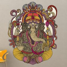 Buy Fleece Throw Blanket with Lord Ganesh designed by Valentina Ramos. One of many amazing home décor accessories items available at Deny Designs. Arte Ganesha, Lord Ganesha, Shiva, Krishna, Zentangle, Les Religions, Gods And Goddesses, Deities, Buddha