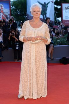 the #american #actess #JudiDench #superstylish  #in #lace #OpeningCeremonyPremiere #70th #VeniceInternationalFilmFestival at the #PalazzodelCinema on #August28_2013 in #Venice #in