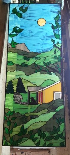 Stained glass Window  The House in the by TerrazaStainedGlass, $1800.00