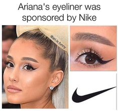 Meme memes — iFunny Meme memes — iFunny,Memesstar Ariana's eyeliner was sponsored by Nike This is a GRANDE fact ô à a (I) (I) (I) – This is a GRANDE fact 👌👌👌🤣🤣🤣. Crazy Funny Memes, Really Funny Memes, Stupid Memes, Funny Relatable Memes, Haha Funny, Funny Jokes, Hilarious, Funny Stuff, Random Stuff
