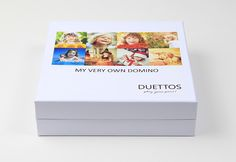 Personalisable Domino game with label on the box with your fotos Board Games, Label, Box, Pictures, Games, Cards, Snare Drum, Tabletop Games, Table Games