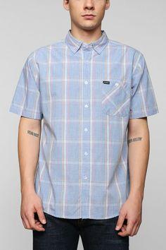 Brixton Howl Plaid Short-Sleeve Button-Down Shirt