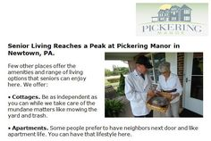 http://pickeringmanor.org/senior-living-reaches-peak-at-pickering-manor-newtown-pa - Senior Living Reaches a Peak at Pickering Manor in Newtown, PA. - Few other places offer the amenities and range of living options that seniors can enjoy here. Read more in our latest blog post.