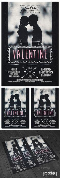 valentine day dance flyer template