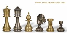 Chess.  Classic Persian Brass and Steel Chess Set.  http://www.thechessstore.com/product/MS075BIT/Classic-Persian-Brass-Chess-Set.html