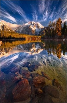 Leigh Lake, Grand Teton National Park, Wyoming  http://www.fluffyhero.com/?utm_content=bufferbdc98&utm_medium=social&utm_source=pinterest.com&utm_campaign=buffer #travel #adventure