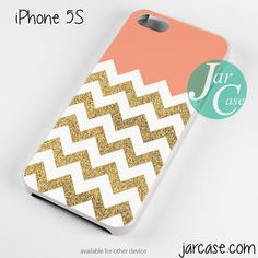Cool Glitter Gold Chevron Phone case for iPhone 4/4s/5/5c/5s/6/6 plus
