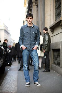 Jeremy Young men's street style