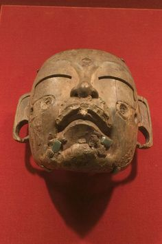 Wood and jade mask. Olmec. Mexico. 1500 to 400 BC