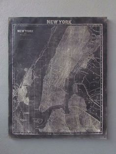 vintage cartography new york map...want one if Brooklyn!!