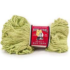 Vintage Aunt Lydias Yarn Heavy Rug #605 Spring Green 236 #Crafting #CraftProjects 180 Yard Skein #AuntLydias #RugYarn