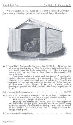 Garage from Aladdin 1908 catalog.