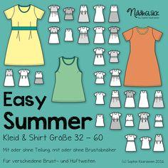 Das Kleid oder Shirt Easy Summer ist ein einfacher, aber sehr wandelbarer Basic-Schnitt. Einen anderen Schnitt brauc...
