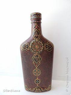 Декор предметов Роспись БутИлИчка   Бутылки стеклянные Краска фото 1