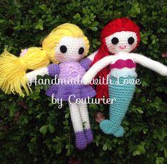 AMIGURUMI DISNEY PRINCESS Tangled and the por HandmadeByCouturier