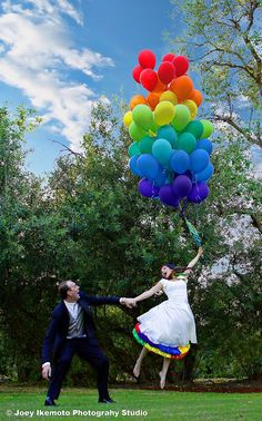 Lisa and Robert's Rainbow Robot Carnival Wedding | Rebel Belle Weddings