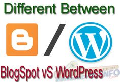 we have many options to choose from, such as WordPress, Blogspot (Blogger) know who is better platform from BlogSpot VS WordPress-Which is better?
