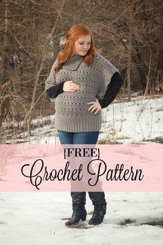 Oversized Sweater - Free Crochet Pattern - Wonderful Happenings Blog