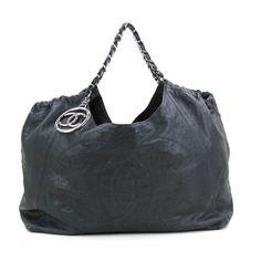 Chanel Black Caviar Leather Coco Cabas Tote Bag