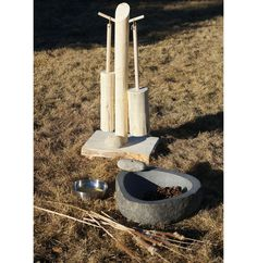 The Mashing Pot. Great addition to our Mud Pie outdoor kitchen area!  A jumbo sized mortar and pestle for outdoor play