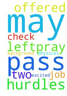 Please pray that i may pass my - Please pray that i may pass my background check. I have been offered a job that i am excited about and this and my physical are the only two hurdles left.....pray for me in jesus name Posted at: https://prayerrequest.com/t/Qi3 #pray #prayer #request #prayerrequest