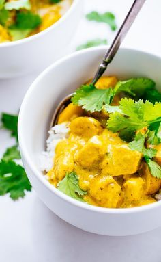 Thai Yellow Chicken Curry from @pinchofyum