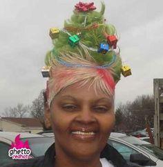 Christmas hair  @Emma Hilldrup