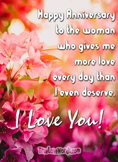 Beautiful, heartfelt and romantic wedding anniversary wishes for wife, to share with her and make your marriage anniversary extremely special. Anniversary Quotes For Wife, Happy Wedding Anniversary Wishes, Birthday Wishes For Wife, Marriage Anniversary, Anniversary Greetings, Happy Birthday, Wedding Wishes Quotes, Wedding Tips, Diy Wedding