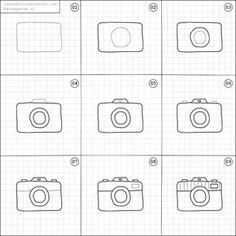 How to draw a camera.                                                                                                                                                                                 More