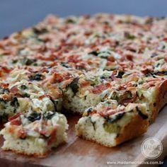 Receita pão de tabuleiro - pão salgado com recheio em cima - Massa fofa de batata..
