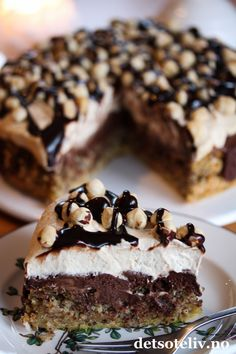 Norwegian Cuisine, Norwegian Food, Sweet Recipes, Cake Recipes, Dessert Recipes, Pudding Desserts, No Bake Desserts, Food Cakes, Cupcake Cakes