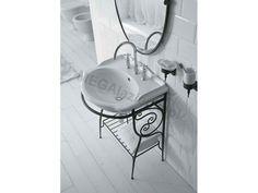 Globo Paestum Umywalka 62 x 52 cm Retro, Soap, Bathroom, Washroom, Bathrooms, Retro Illustration, Soaps, Bath, Mid Century