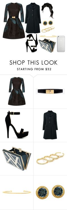 """""""Sin título #4652"""" by paula896 ❤ liked on Polyvore featuring Elie Saab, White House Black Market, Theory, Fallon and Native Union"""
