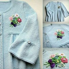 This Pin was discovered by Len Crochet Baby Cardigan, Knit Baby Sweaters, Knit Crochet, Baby Sweater Patterns, Baby Knitting Patterns, Baby Patterns, Knitting For Kids, Crochet For Kids, Baby Girl Jackets