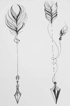 Bff Tattoos, Spine Tattoos, Future Tattoos, Body Art Tattoos, Tattos, Arrow Tattoos For Women, Tattoos For Women Small, Small Tattoos, Creative Tattoos