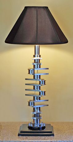 Crankshaft lamp - good repurpose idea for old parts.