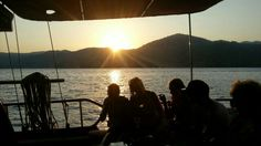 Relaxing, enjoying the sunset on the gulet Gunay 1 - Sailing Gocek Turkey