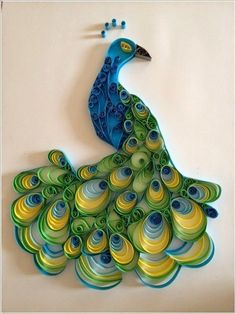 Quilled Creations is the world's leading quilling supply company. We have created the highest quality quilling tools, kits and papers. We ship our quilling supplies all over the world! Toilet Paper Roll Art, Rolled Paper Art, Paper Strips, Arte Quilling, Quilling Paper Craft, Peacock Quilling, Quilling Comb, Peacock Crafts, Paper Quilling Tutorial