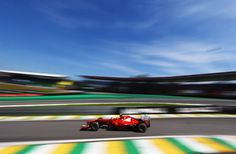 Felipe Massa of Brazil and Ferrari drives during practice