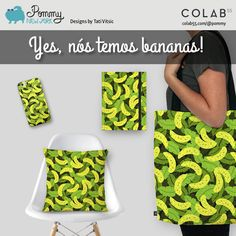 Yes, nós temos bananas! Shipping to Brazil: https://www.colab55.com/@pommy/cases/bananas