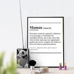 Affiche définiton ' maman ' - texte - à télécharger pour la fête des mères