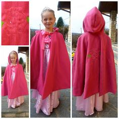 Fleece Fun is crossing language barriers and borders!  I love the rose on the back of this Red Riding Hood Cape!