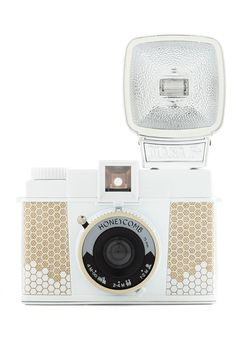 Diana F+ Camera in Honeycomb. Celebrate the soft-focus, color-saturated, retro style of Lomography with this special edition of the original Diana cameras! #multi #modcloth