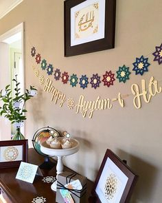 This Baha'i Ayyam-i-Ha banner celebrates Intercalary Days with the words Happy Ayyam-i-Ha written in cursive and surrounded by a total of seven 9-pointed stars. Ayyam-i-Ha is a Baha'i festival of charity, hospitality and joyous celebration starting at the end of February expressed