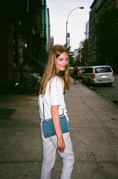 Caroline Brasch Nielsen casual with a feminine pop