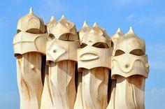 Barcelona: Chimeneas de La Pedrera
