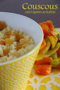 Couscous com Legumes ao Açafrão [ e Aroma a Marrocos ]